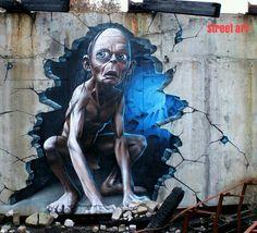 Street art, gollum