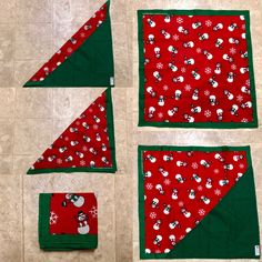 SNOWMAN RED WHITE BABY BOY GIRL COTTON BANDANA BIB DRIBBLE CHRISTMAS//XMAS SANTA