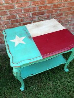 cute, painted coffee table