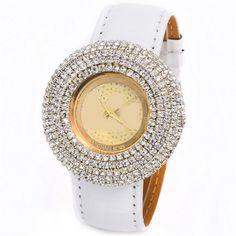 New top Fashion  Luxury CrocodileVegan Leather Strap Watch women dress watch Rhinestone Ladies Quartz wristwatches