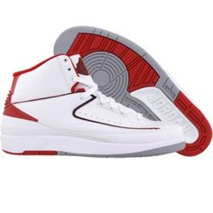 Cheap Air Jordan II 2 Retro Countodown Split Mens Basketball Shoes white red grey A02002 UK Outlet Online