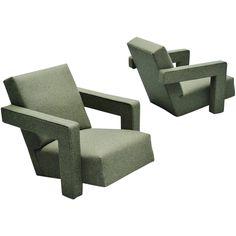 Gerrit Thomas Rietveld Utrecht Chairs Metz & Co, 1961   1stdibs.com