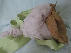 Casual Elegance by Beverly Girolomo my blog.  Come & check it out. Burlap lace & candy apple green bow.