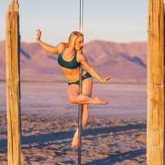 Golden Hour.  Pole Athlete: Mary . . #polefitness #poledancing #thatlighttho #poledance