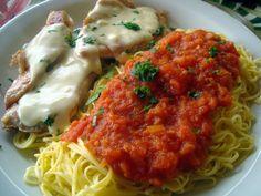 Chef gourmet Cassinho: filé de frango com queijo gorgonzóla e espaguete ...