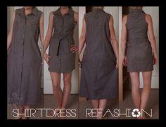 $3 thrift store dress -- my first refashion