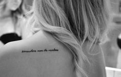 Somewhere over the rainbow. Tattoo for my angel, Shannon Cartwright <3