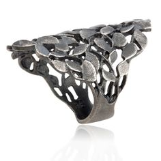 Hellegerd Jewellery, Denmark - Leaves, silver ring | Dirks Design