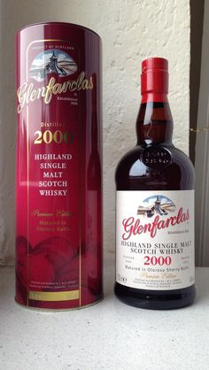 Glenfarclas Oloroso Sherry Cask Highland Single Malt Premium Edition Scotch Whisky 2000-2013, Aged 13 Years. Matured in Oloroso Butts. 46%. 67 Dollar.