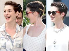 anne-hathaway hair stile