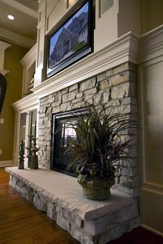 Excellent Pictures Fireplace Remodel stone Tips In case a room has a hearth, it . : Excellent Pictures Fireplace Remodel stone Tips In case a room has a hearth, it is typically the focal point of the room. Update the fireplace with Fireplace Redo, Fireplace Remodel, Fireplace Design, Fireplace Mantels, Fireplace Stone, Fireplace Ideas, Fireplace Pictures, Backyard Fireplace, Fireplace Makeovers