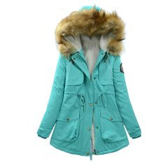Camp Byers Parka ($120) ❤ liked on Polyvore featuring outerwear, coats, mint, parka coat, blue parka coat, mint coat, blue parka and blue coat