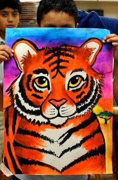 smART Class: Tiger Paintings. Big big cats!