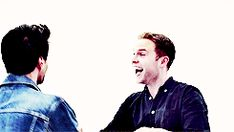 Brett Dalton and Iain De Caestecker oh my gosh I just died the bromance game is strong