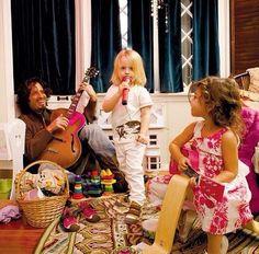 Chris Cornell & kids. Gorgeous.