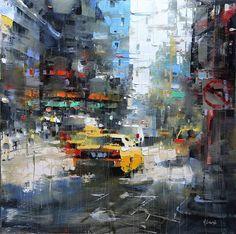 New York Sun by Mark Lague Oil ~ 24 x 24