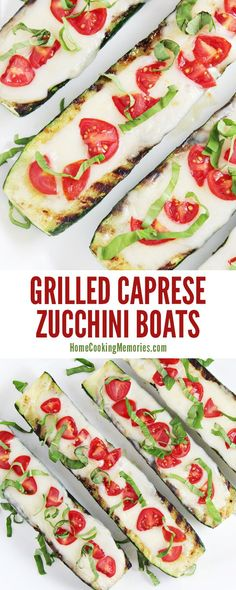 One of the best ways to enjoy summer zucchini: Grilled Caprese Zucchini Boats Recipe! You only need 5 ingredients - including zucchini, mozzarella cheese, tomatoes, basil, and olive oil & they are ready to eat in about 20 minutes. Deliciously simple!!