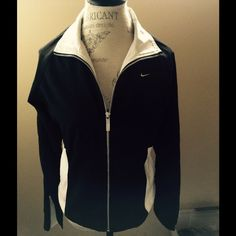 """Nike Colorblocked Design Jacket. Mesh lining. EX CONDITION. FRONT ZIP CLOSURE, NIKE LOGO ON CHEST. MESH LINING WICKS AWAY SWEAT FROM YOUR BODY. GREAT RUNNING JACKET OR PERFECT THROW-ON JACKET. ZIPPER AT BOTTOM OF SLEEVES ABOUT 4"""". 59% Polyester, 41% Nylon. Machine Wash & Tumble Dry NIKE Jackets & Coats"""