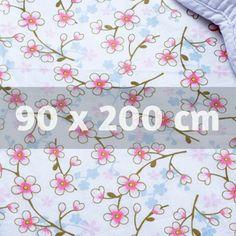 PiP underlakan med resår - Cherry Blossom, 90 x 200 cm