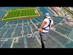 ▶ Rope Swing Zipline - NFL Stadium - YouTube: http://www.youtube.com/user/devinsupertramp?feature=watch