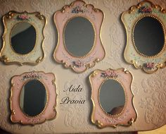Mirror 1:12. Mirror. Hand painted furnitures