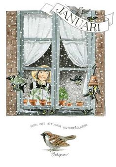 Linneas maandposters - Lena Andersson - The Swedish Gift Shop New Month Greetings, Art Calendar, Cute Fairy, Naive Art, Months In A Year, Vintage Pictures, Watercolor Art, Fairy Tales, Arts And Crafts