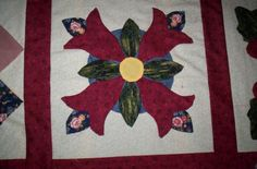 """""""Tulips"""" Tree Skirts, Tulips, Christmas Tree, Rugs, Holiday Decor, Home Decor, Scrappy Quilts, Teal Christmas Tree, Farmhouse Rugs"""
