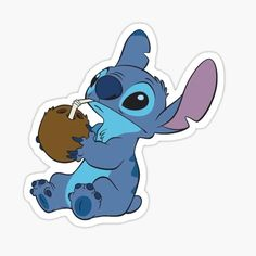 Stickers Cool, Preppy Stickers, Cartoon Stickers, Tumblr Stickers, Printable Stickers, Lelo And Stitch, Lilo Y Stitch, Cute Stitch, Stitch Cartoon