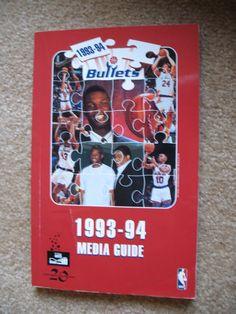 1993-94 WASHINGTON BULLETS  BASKETBALL  MEDIA GUIDE