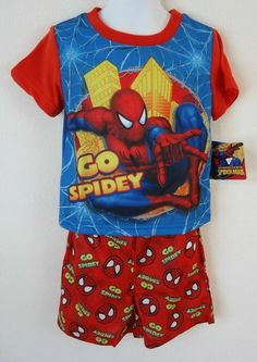Spider-Man Boys S//S Polo Two-Piece Short Set Size 2T 3T 4T 4 5 6 7