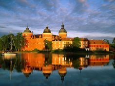 Gripsholm Castle, Sodermanland, Sweden on Lake Malaren  I've been there and it's amazing!