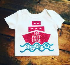 My First Cruise Onesie Or Shirt - Can Be Customized To The Colors Of Your Liking by MommyMadeItGa on Etsy https://www.etsy.com/listing/386754134/my-first-cruise-onesie-or-shirt-can-be
