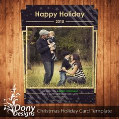 Christmas Card Template , Holiday Card Photocard Photoshop Template Instant Download BUY 1 GET 1 FREE : cardcode-215 by DonyDesigns on Etsy