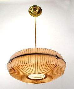 Repurposed Fan Cage Noguchi Inspired Lamp - See the gallery of lights made from old teakettles, irons, punch bowls, etc. Very inspiring. Chandelier Makeover, Love Your Home, Ceiling Fixtures, Ceiling Fan, Hanging Lights, Pendant Lamp, Home And Living, Decoration, Home Crafts