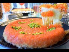 (3860) Kunafa simple and easy recipe , Knafeh , Kunafah , Kanafah , كنافة , kunāfah , künefe - YouTube Arabic Sweets, Arabic Food, Rice Recipes, Dessert Recipes, Desserts, Palestinian Food, Cheese Dessert, Phyllo Dough, Ramadan Recipes