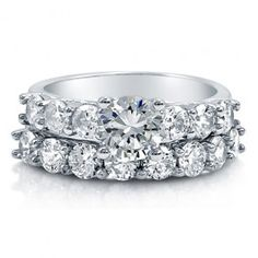 Round Cut Cubic Zirconia Sterling Silver 2-Pc Bridal Ring Set 1.03 Ct  style number: r736  $72.99