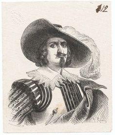 """Don Rodrigo ( bozze delle illustrazioni per l'edizione de """"I Promessi sposi"""" del 1840 / n. 012)"""