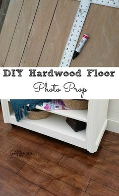Easy DIY Photo Prop Hardwood Floor  for furniture staging or photography.  Paint, stain, sharpie, sooo easy to do.