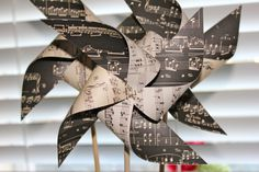 Pinwheels 6 Large Twirlable Pinwheels VINTAGE by pickledparlor, $20.00