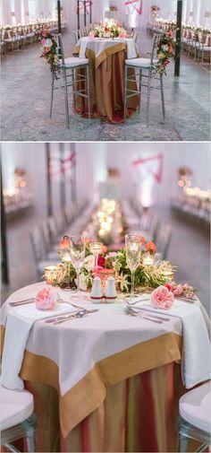 Sweetheart table ideas. Captured By: Vitalic Photo #weddingchicks ---> http://www.weddingchicks.com/2014/06/13/get-creative-with-an-art-museum-wedding/