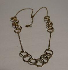 "Banana Republic Gold Tone Chain Women's Necklace Signed tag 30"" #BananaRepublic #GoldChain"
