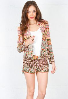 Rebecca Minkoff Becky Jacket in Multi Print. Love love love jacket!!!!