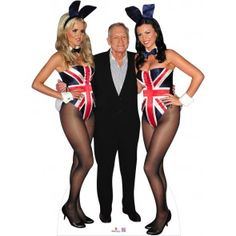 Hugh and Playboy Girls Cardboard Cutout 313