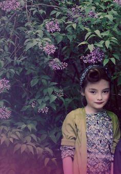 Such a sweet shot, girls fashion green themed story for Luna Magazine shot by Melanie Rodriguez