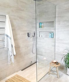 Shades of gray are the newest neutral in! Here's one way to incorporate gray into a bathroom design.