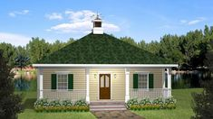This 1 story Country features 864 sq feet. Call us at to talk to a House Plan Specialist about your future dream home! Small Cottage Homes, Small Cottages, Cottage Style Homes, Cottage House Plans, Cabins And Cottages, Country House Plans, Small House Plans, Beach Cottages, House Floor Plans