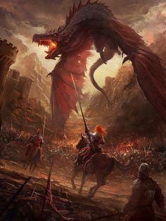 Black Dragon, Me, Digital, 2019 - Art Fantasy Battle, High Fantasy, Fantasy Warrior, Medieval Fantasy, Dark Fantasy Art, Fantasy Concept Art, Fantasy Character Design, Fantasy Artwork, Arte Game Of Thrones