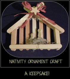 Christmas crafts are not only fun to make , but also create memories! I especially like Christmas crafts that relate to the real meaning of Christmas. This Nativity Ornament Craft is one of my favorites! It is easy to make, too, with some adult supervision!! Not only is it great for a tree ornament, but it stands on its own for a nativity display! We made these some years ago for a church Advent Festival.
