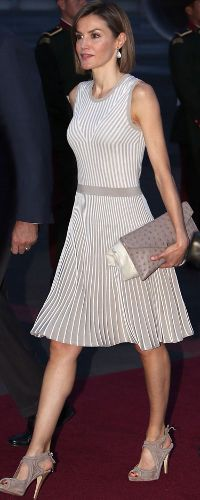 Queen Letizia arrives in Mexico Cty on 28 June 2015 for a State Visit.