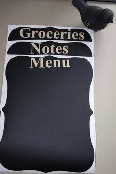 Chalkboard vinyl.  Oh, this is good.  I may have to get a cricket just for this project.
